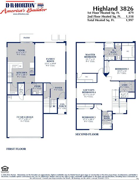 dr horton floor plans dr horton homes