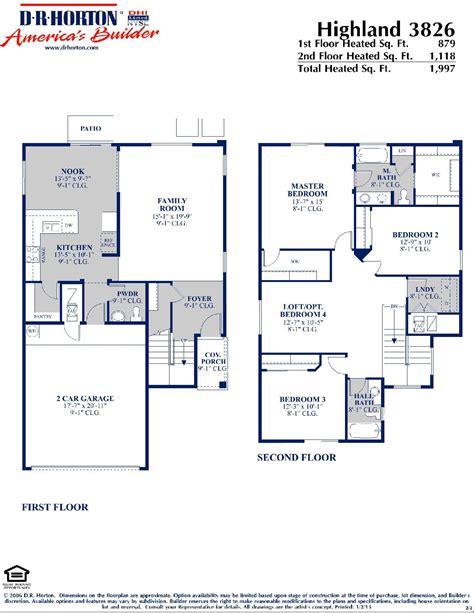 dr horton floor plan dr horton homes
