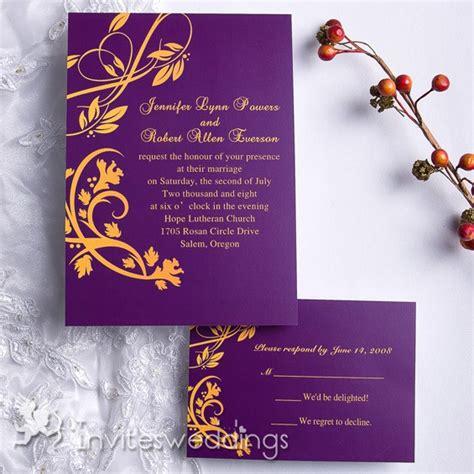 purple and yellow wedding invitation cards purple and gold summer wedding invitation iwi071 wedding