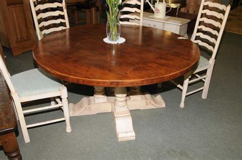 Round Farmhouse Painted Kitchen Dining Table Oak | round farmhouse painted kitchen dining table oak