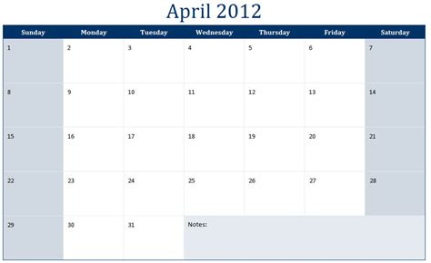 April 2012 Calendar April 2012 Calendar April 2012 Calendar Printable