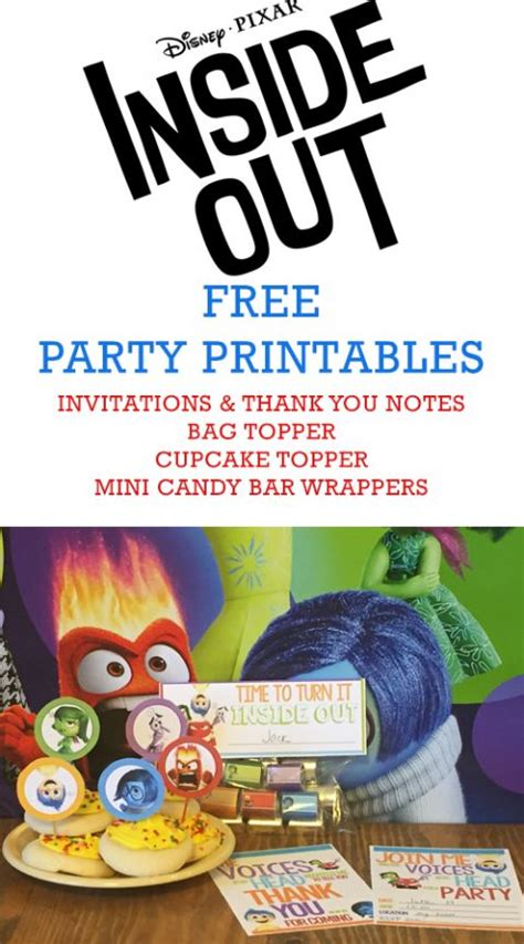 inside out printable party decorations 17 best images about inside out party on pinterest