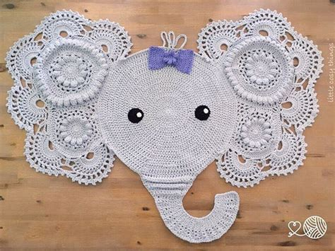 Elephant Rug Pattern Free by Crochet Patterns Elephant Rug Creatys For