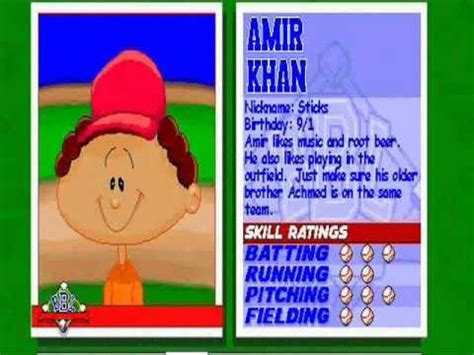 Backyard Baseball Amir Khan Amir Khan Theme Song