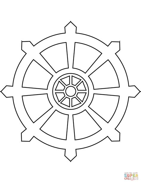 buddhist wheel of template bike wheel page coloring pages