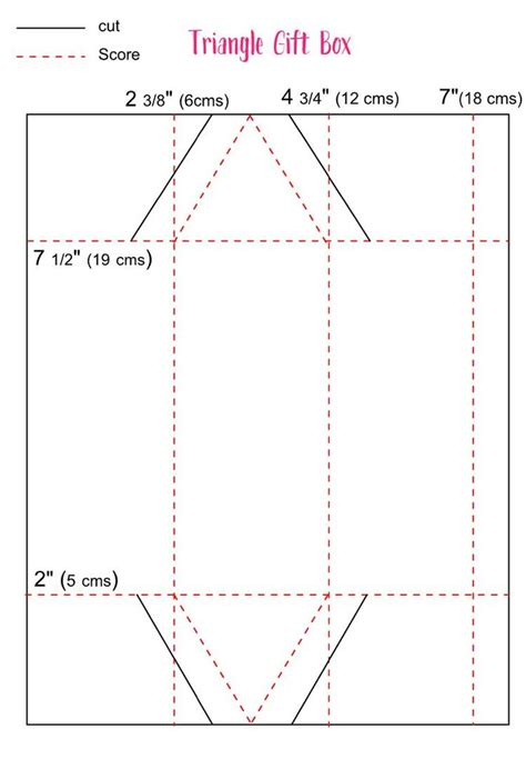 treat boxes templates triangle treat box template stuff i want to make