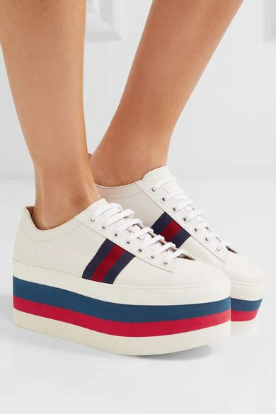 Platform Leather Sneakers gucci leather platform sneakers net a porter