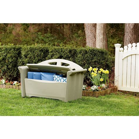 rubbermaid garden bench up to 63 off rubbermaid storage bench only today ftm