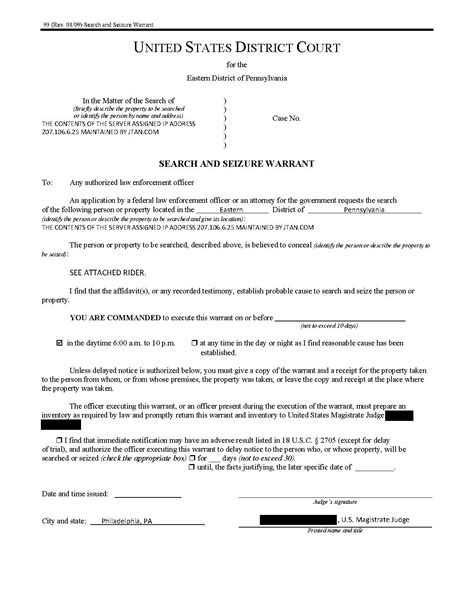 Will County Search Warrant File Jtan Search Warrant Pdf Wikimedia Commons