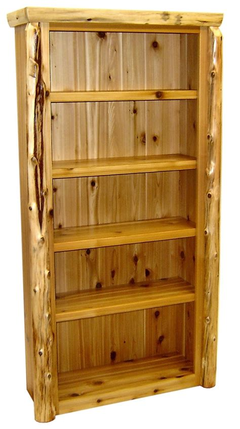 northwood s cedar log book rustic log bookshelves