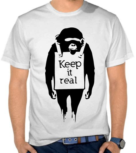 Kaos Distro Lokal Premium Dst794 jual kaos keep it real monyet satubaju