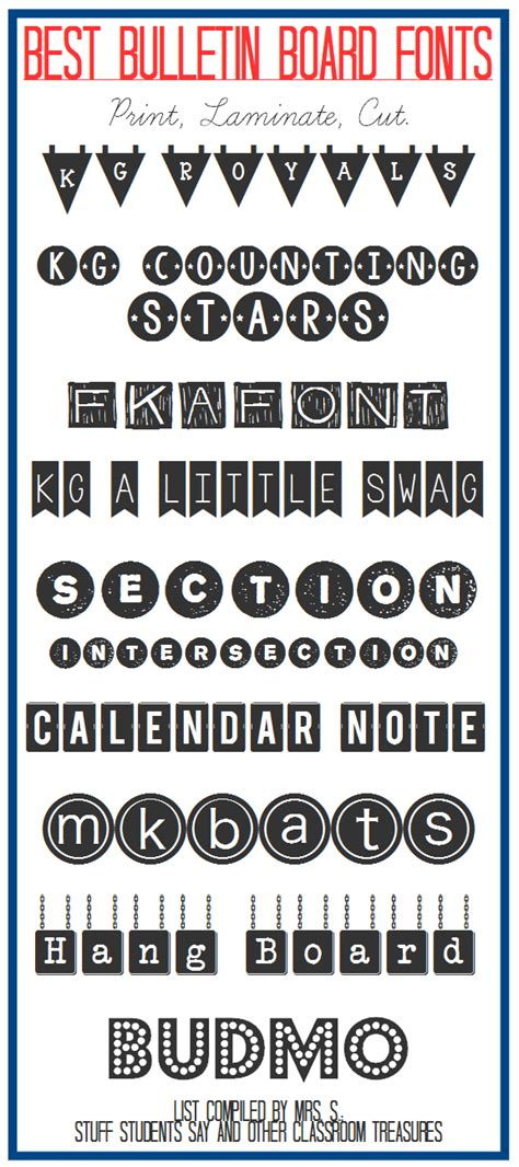 printable fonts for bulletin boards stuff students say and other classroom treasures best