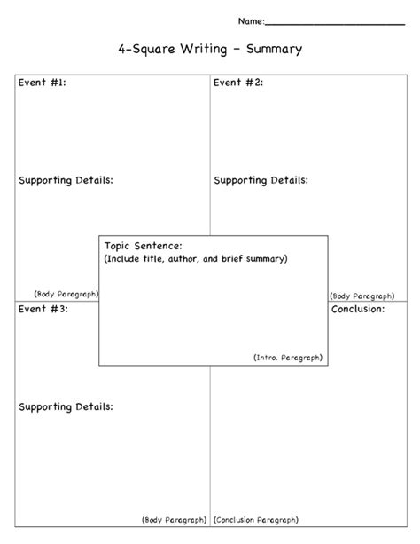 4 square writing template 1000 images about four square writing method on