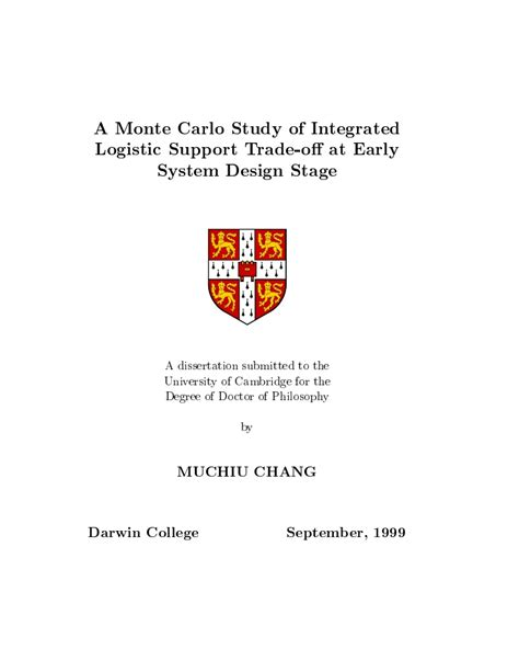 doctoral dissertations muchiu chang phd dissertation of of cambridge