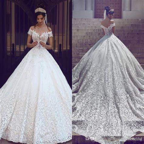 Luxury Wedding Dresses by Discount Saudi Arabic Dubai Luxury Wedding Dresses 2017
