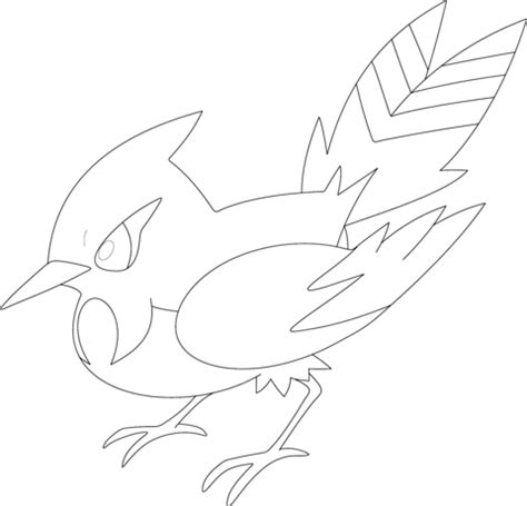 pokemon coloring pages talonflame fletchinder coloring page free printable coloring pages