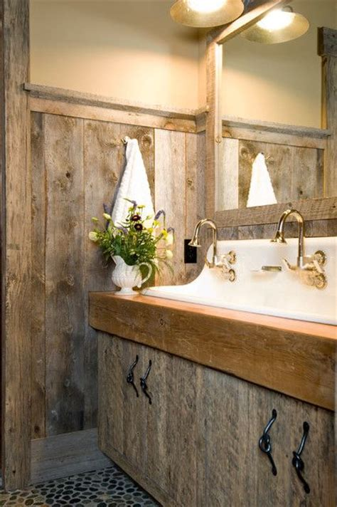 wood bathroom ideas 39 cool rustic bathroom designs digsdigs