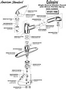 kitchen sink faucet parts diagram american standard faucet parts diagram