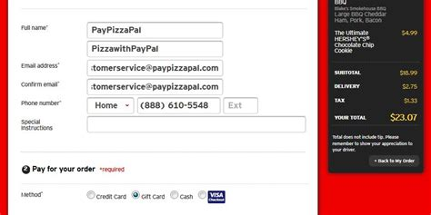 Gift Cards Pay With Paypal - how to order pizza hut pizza with paypal