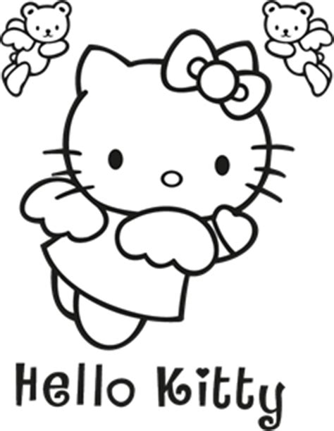 hello kitty logo coloring pages hello kitty logo vector eps free download