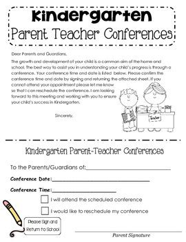 parent teacher conference letters parent teacher conference letter by mueller tpt