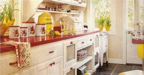 Red And Yellow Kitchen - cute red and yellow cottage kitchen tomb sweet tomb pinterest yellow cottage cottage