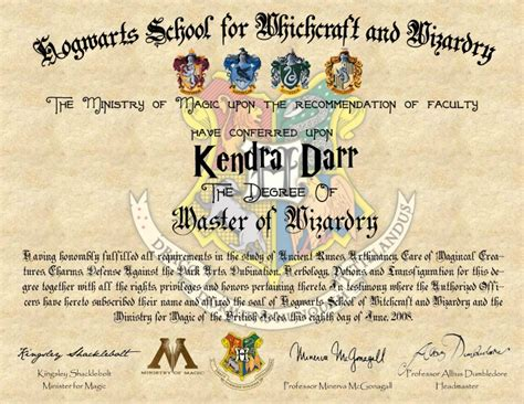 harry potter certificate template diy harry potter hogwarts diploma simply darr
