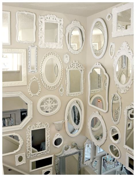 mirror wall not so shabby shabby chic more mirrors mirrors mirrors