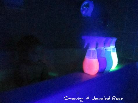 glow in the water make your own glowing bath bubbles growing a jeweled