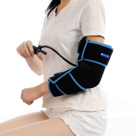 hot cold therapy gel pack cold therapy elbow wrap with compression and bonus ice gel