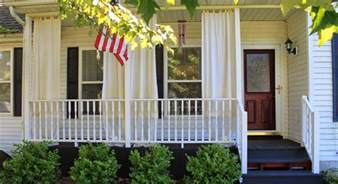 Front Porch Curtains How To Make Inexpensive Curtain Rods For Your Front Porch Simple Suburban Living
