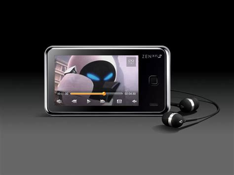 creative labs zen x fi 2 16 gb mp3 and player with touchscreen and built in