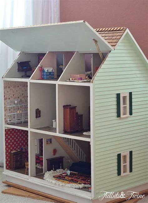 homemade wooden doll houses take a tour of my doll house tidbits twine