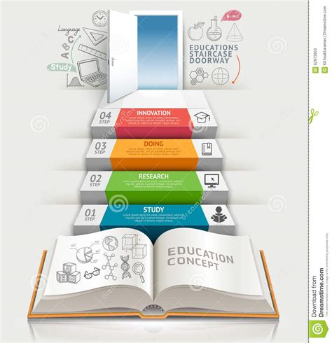 infographic book layout books step education infographics stock vector image