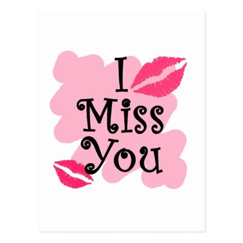 i miss you postcard zazzle