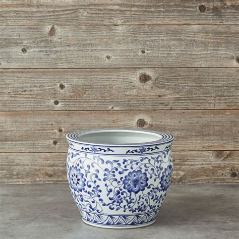 large white ceramic planter blue white ceramic planter large williams sonoma