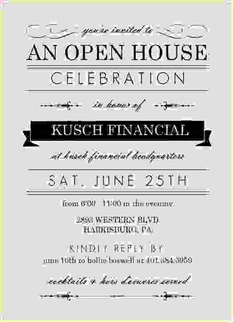 business open house invitation template 7 business open house invitationreport template document