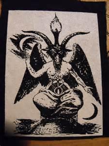 baphomet patch satan devil pentagram black metal punk free