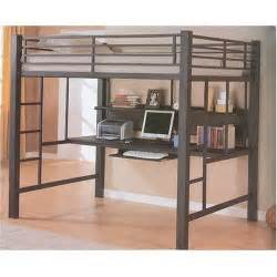 Metal Loft Bed With Desk by Metal Loft Beds With Desk Underneath