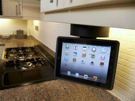 kitchen speakers ipad kitchen flipdown dock with speaker mount bracket