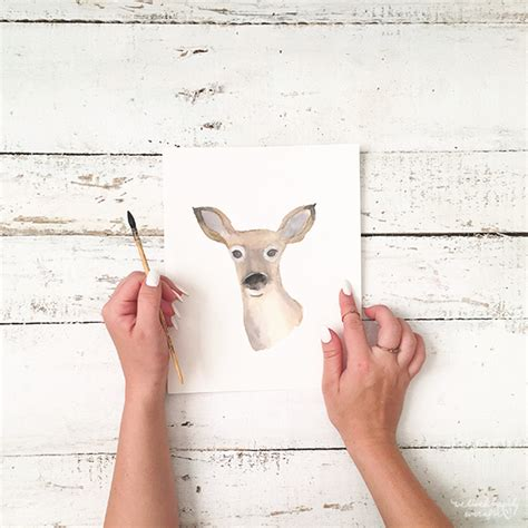 Watercolor Deer Tutorial | we lived happily ever after doe watercolor tutorial