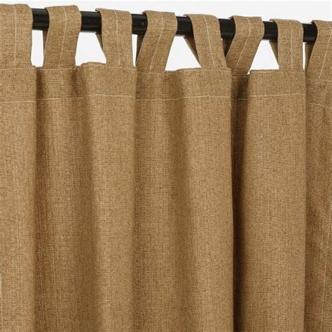 outdoor sunbrella drapes sunbrella outdoor curtain with tabs