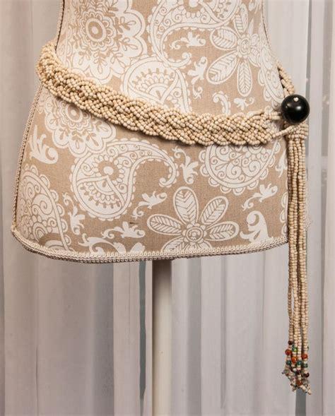 Handmade Beaded Belts - vintage handmade glass beaded belt braided with tassel