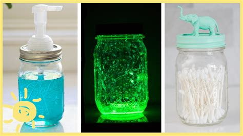 diy 3 easy mason jar hacks youtube