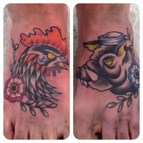 pig and chicken tattoo sailor pig and chicken ink