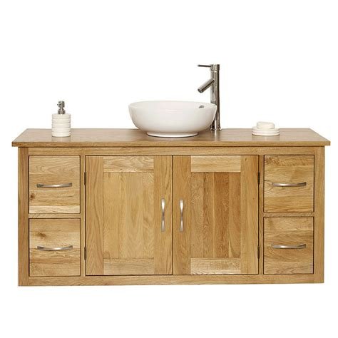 bathroom oak vanity units 50 off large oak wall hung vanity unit bathroom finesse