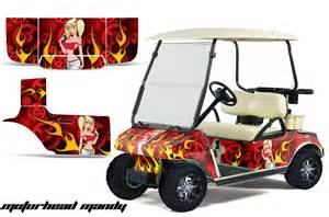 Golf Cart Wrap Template by Custom Club Car Golf Cart Graphics Wrap Kits In 40