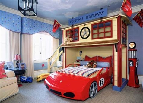 boys car themed bedroom cars kids beds decorating design