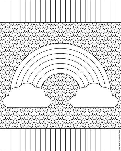 Don T Eat The Paste Rainbow Coloring Page Pattern Colouring In Pages