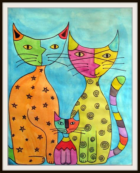 cat painting designs easy 60 best images about on folk original